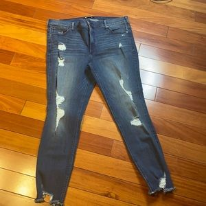 Express jeans for women size 16 are high-rise